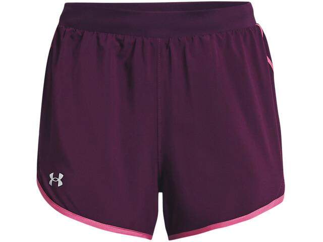 Under Armour Fly By 2.0 Shorts Women, polaris purple-polaris purple